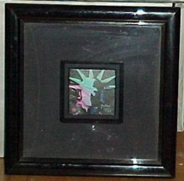 """""""Liberty Head #3"""" Framed Original Acrylic on Canvas by Peter Max"""
