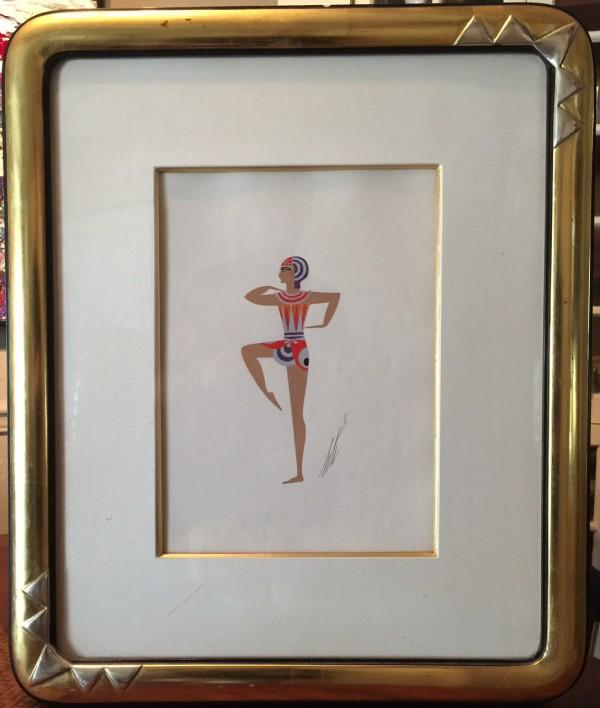 """""""Costume Egyptien"""" November 1934 Framed Original Gouache by Erte"""