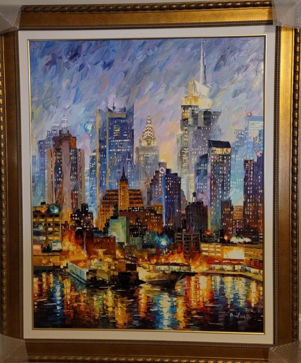 """Magnificent Manhattan"" Original Oil on Canvas by Daniel Wall"