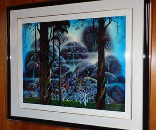 """Mist In The Dark Woods"" Framed Serigraph by Eyvind Earle"