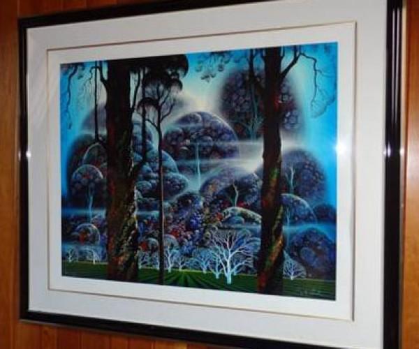 """Mist In The Dark Woods"" Framed Serigraph by Eyvind Earle"