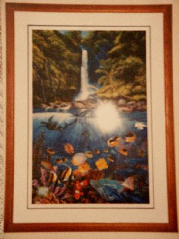 """""""Eternal Rainbow"""" Framed Mixed Media Graphic with Remarque by Christian Riese Lassen"""