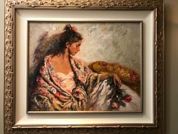 """""""Reposo"""" Original Oil on Canvas Painting by Royo"""