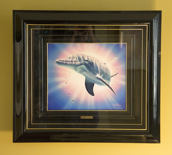 """""""Kalohe"""" Framed Original Acrylic Painting on Trovicel by Christian Riese Lassen"""