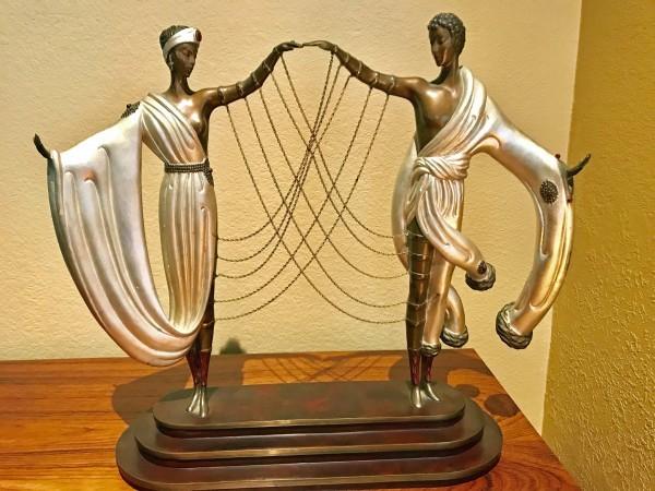 """""""The Wedding"""" Bronze Sculpture by Erte"""