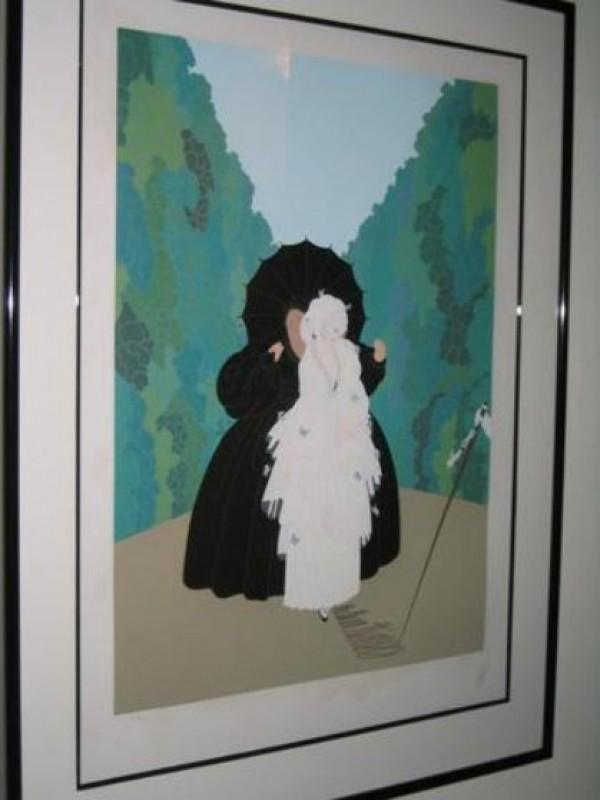 """""""Debutante"""" AP  Framed 1983 Serigraph by Erte"""