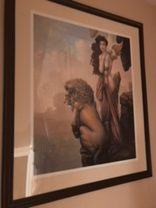 """""""The Last Lion"""" Giclee on Canvas by Michael Parkes"""