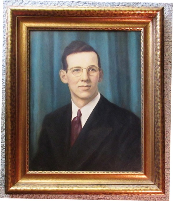 Original Oil on Board Portrait of a Man 1944 by Emil Hermann