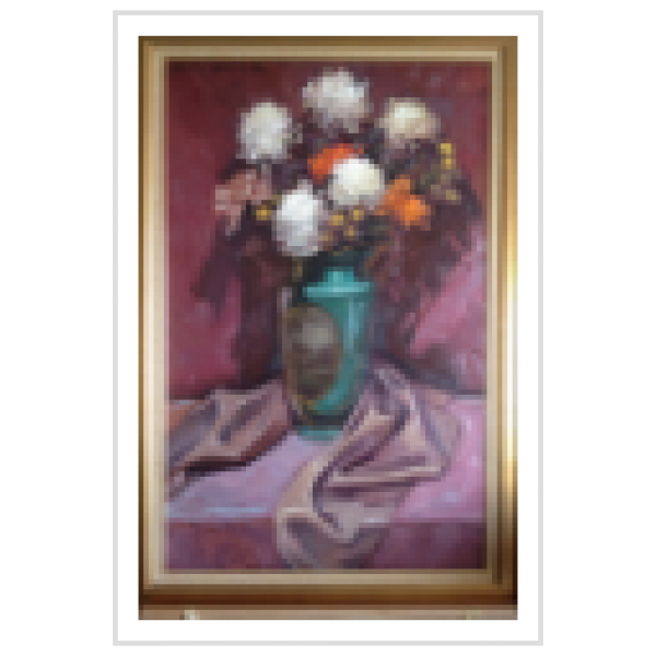 """""""The Chrysanthemums"""" Original Oil on Canvas by Dulce Beatriz"""