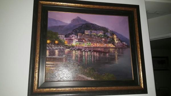 "Cetera Night"" Framed Original Oil on Canvas by Sam Park"