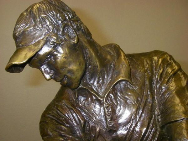 """Double Eagle"" Bronze Sculpture by Laran Ghiglieri Detail"