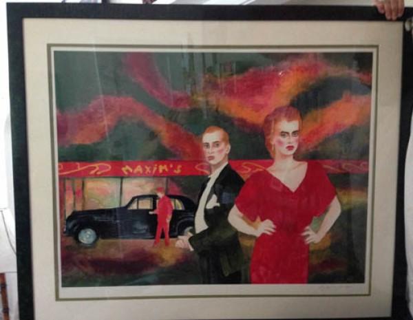 """Maxims"" Framed Serigraph by Joanna Zjawinska"