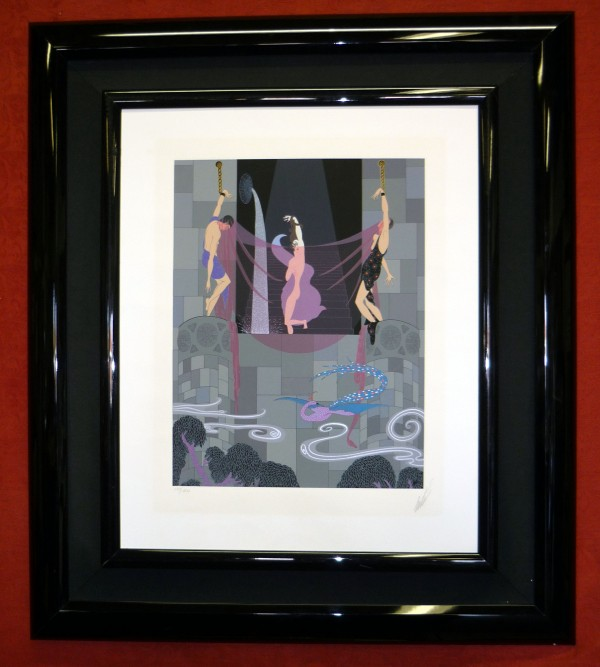 """""""The Chaste Susanna"""" Serigraph on Paper by Erte"""