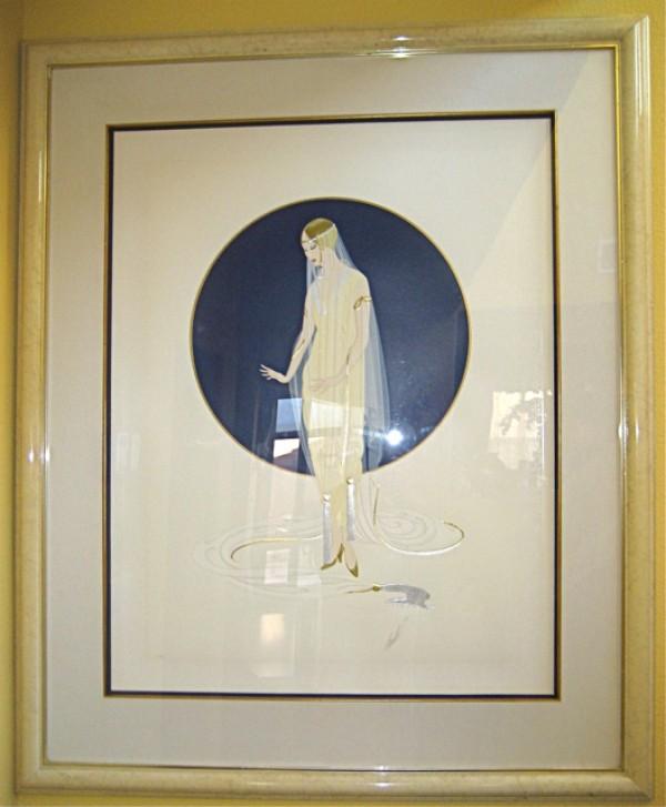 """Devotion"" Framed Limited Edition Serigraph by Erte"