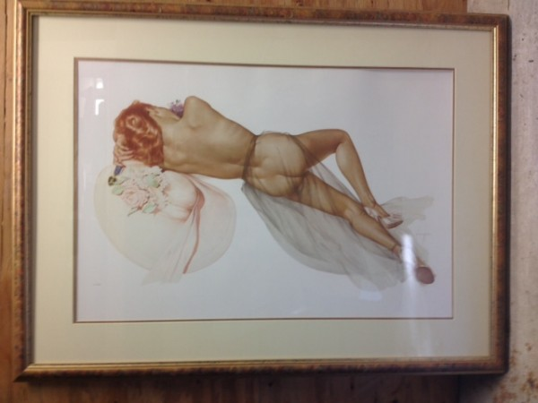 """World War II"" Framed Lithograph/Arches by Alberto Vargas"
