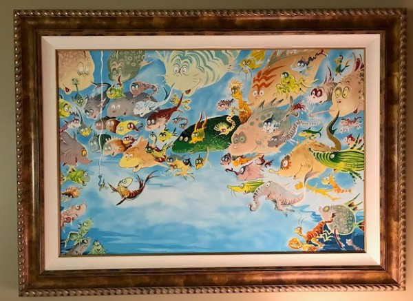"""""""A Plethora of Fish"""" Serigraph on Archival Panel by Dr. Seuss"""