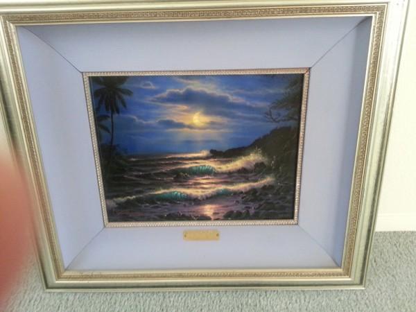 """Evening Island Surf"" Framed Original Oil on Canvas by Christian Riese Lassen"
