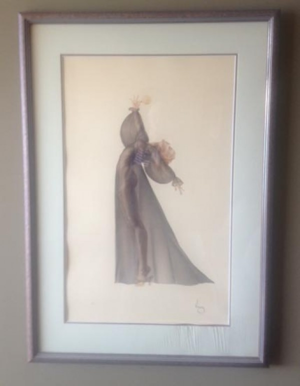 """""""Sheer Elegance"""" Framed Lithograph/Arches by Alberto Vargas"""