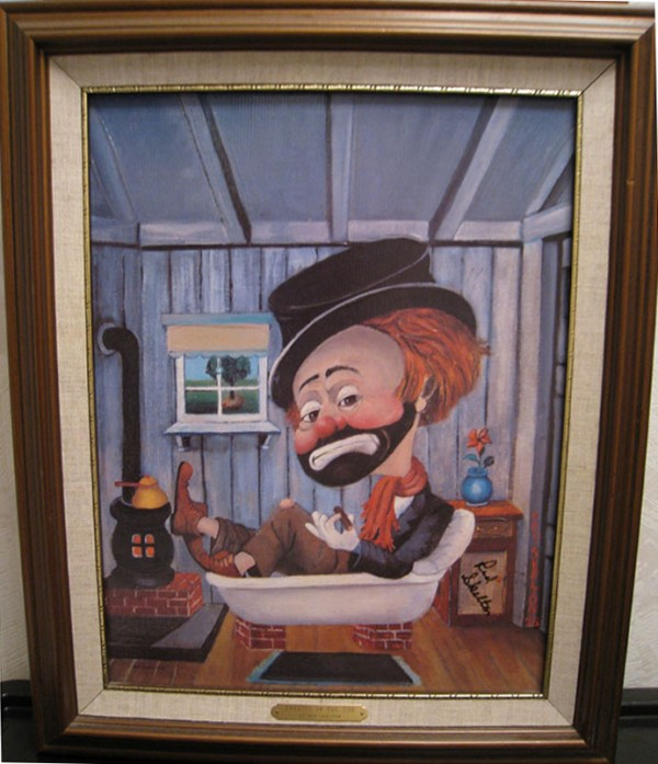"""Freddie In The Tub"" Framed Serigraph by Red Skelton"