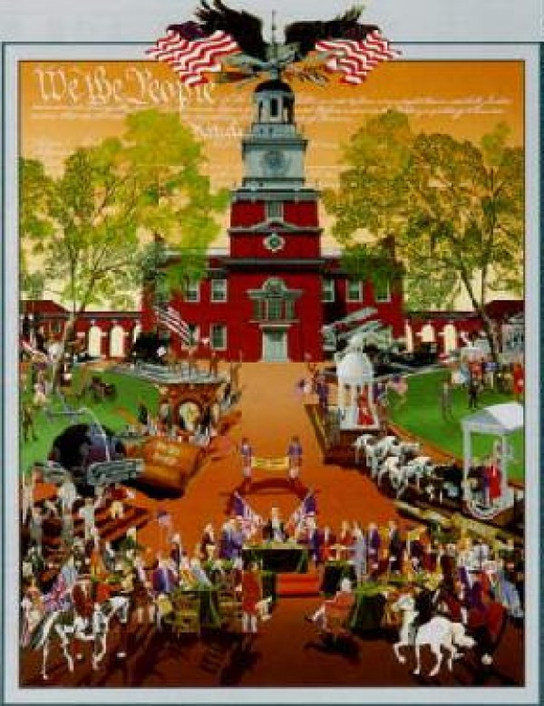 """""""Constitution"""" Serigraph by Melanie Taylor Kent"""