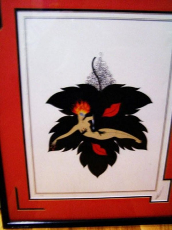 """""""Lust""""  Framed Serigraph from the Seven Deadly Sins Suite by Erte"""