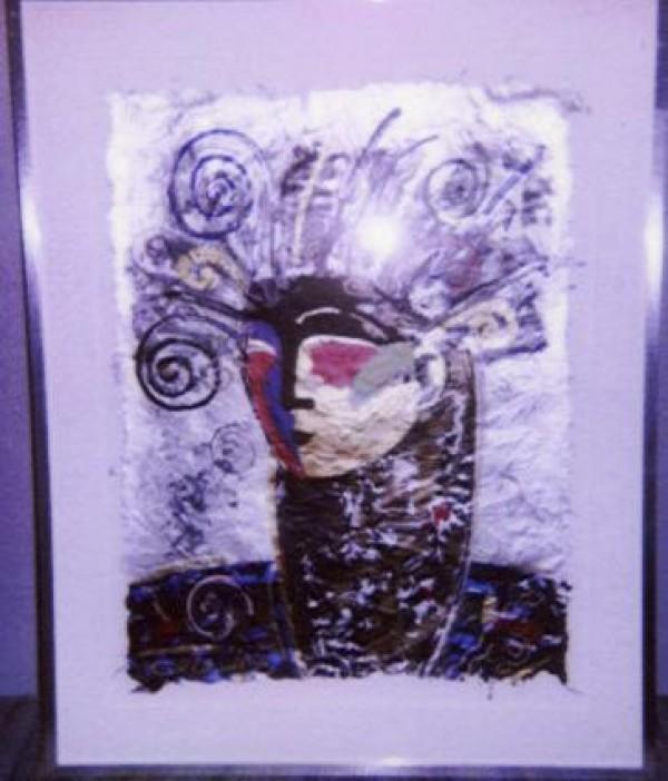 """""""Minerva"""" Framed Original Multiple by Orlando, A.B."""