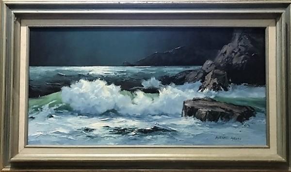 """""""Seascape"""" an original oil on canvas by Marshall Merritt"""