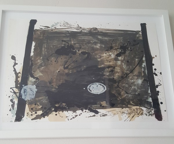 Untitled circa 1970 Lithograph by Antoni Tapies