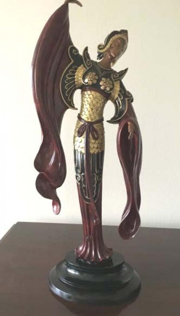 """""""Chinese Legend"""" Bronze Sculpture by Erte"""