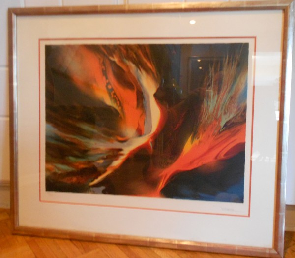 """Firebird I"" Limited Edition Color Lithograph by Leonardo Nierman"