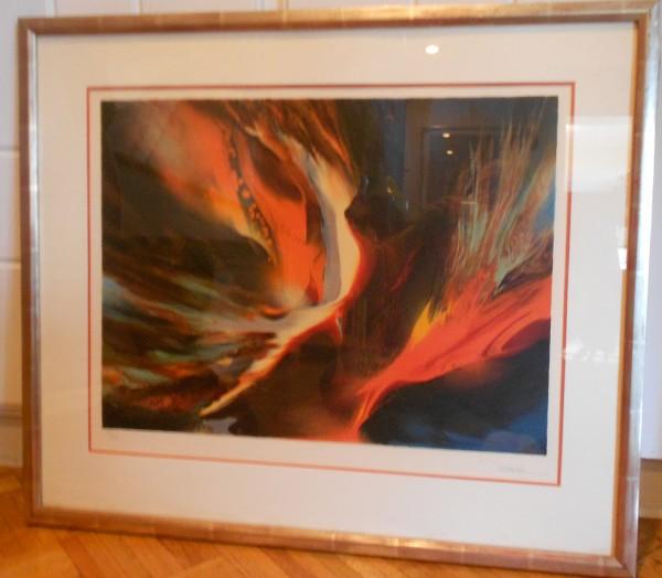 """Firebird I"" Limited Edition Color Lithograph by Leonardo Nierman"