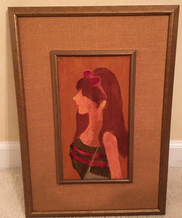 """Hippie"" Original Acrylic on Canvas by Gustav Likan"