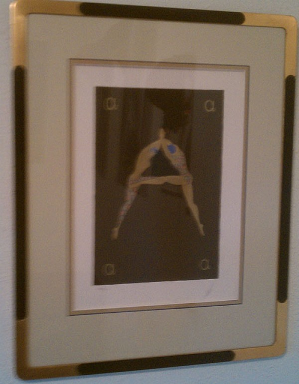 """""""Letter A"""" Framed Serigraph/Lithograph by Erte"""