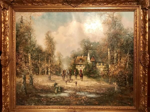 """Hunt"" Original Oil on Canvas by Willie Bauer"