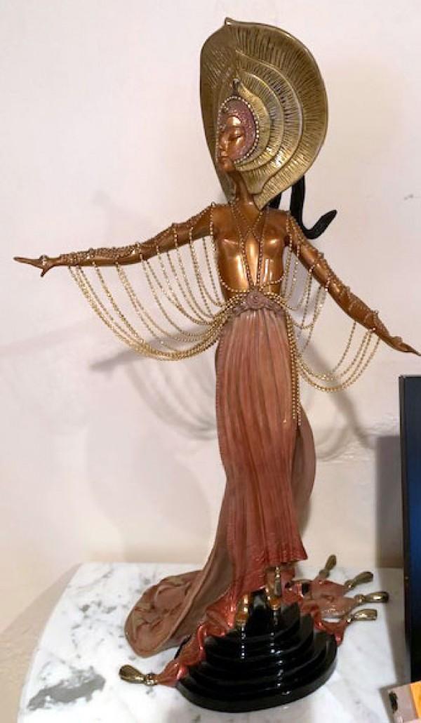 """L'Orientale"" a Bronze Sculpture by Erte"