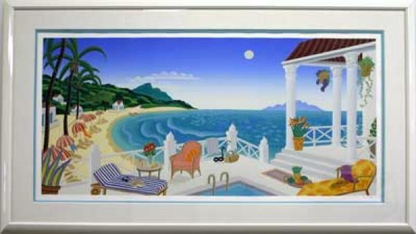 """Crescent Bay"" Framed  Serigraph by Thomas McKnight"