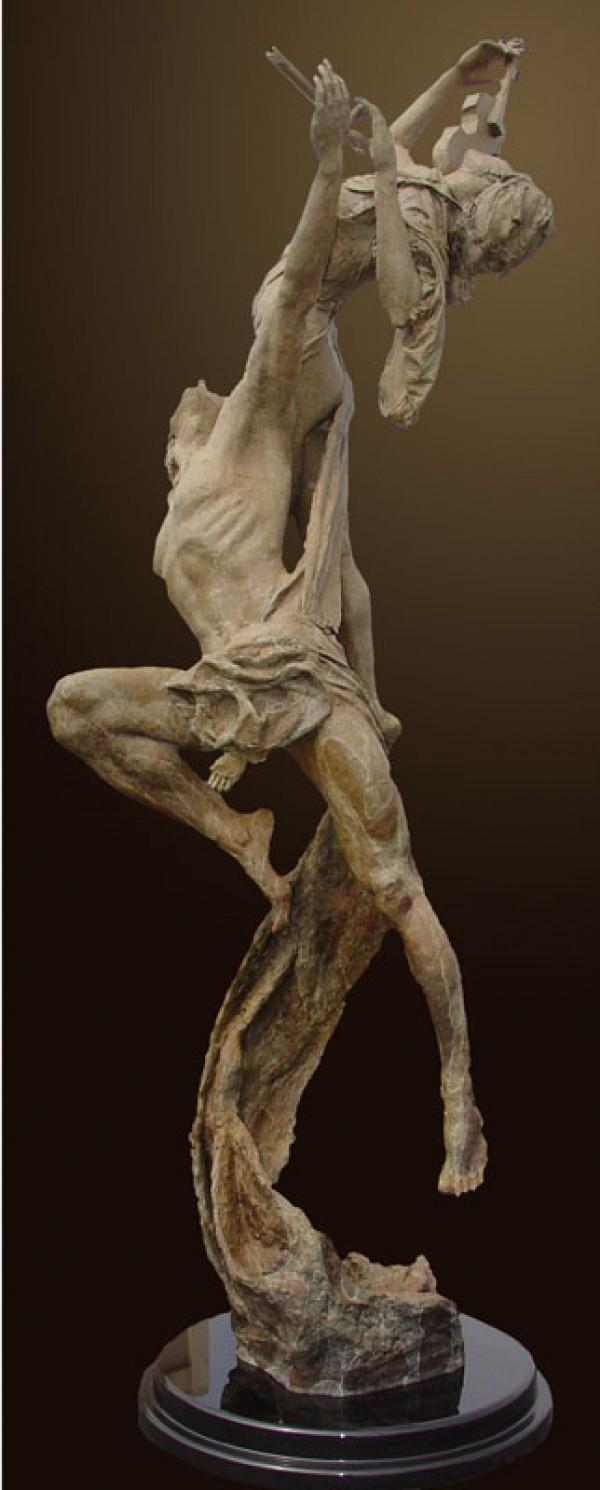 """Reminiscence"" bronze sculpture by Tuan"