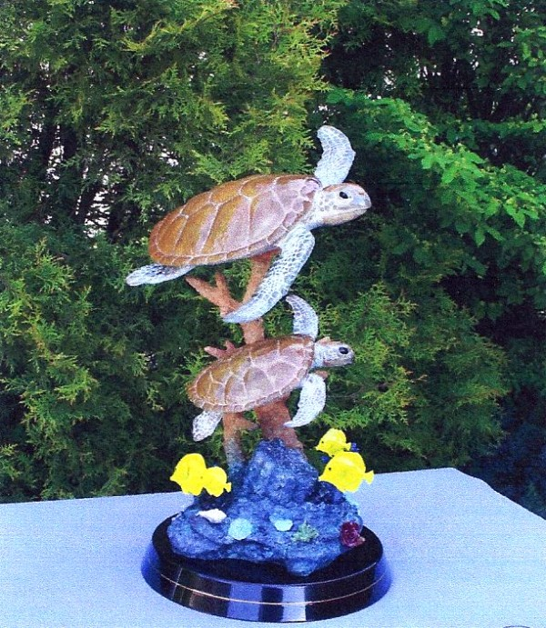 """""""Honu World"""" Bronze Sculpture by Christian Riese Lassen"""