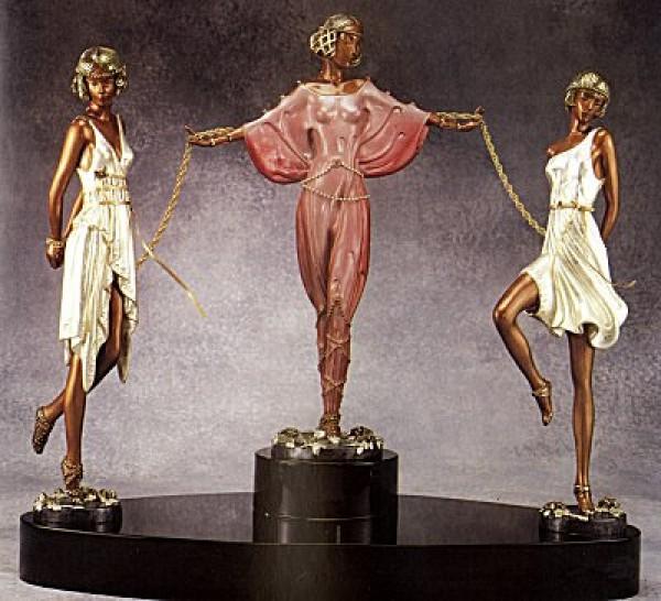 """Printemps"" a Bronze Sculpture by Erte"