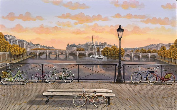 """Pont des Arts"" digital pigment print on canvas by Liudmila Kondakova"