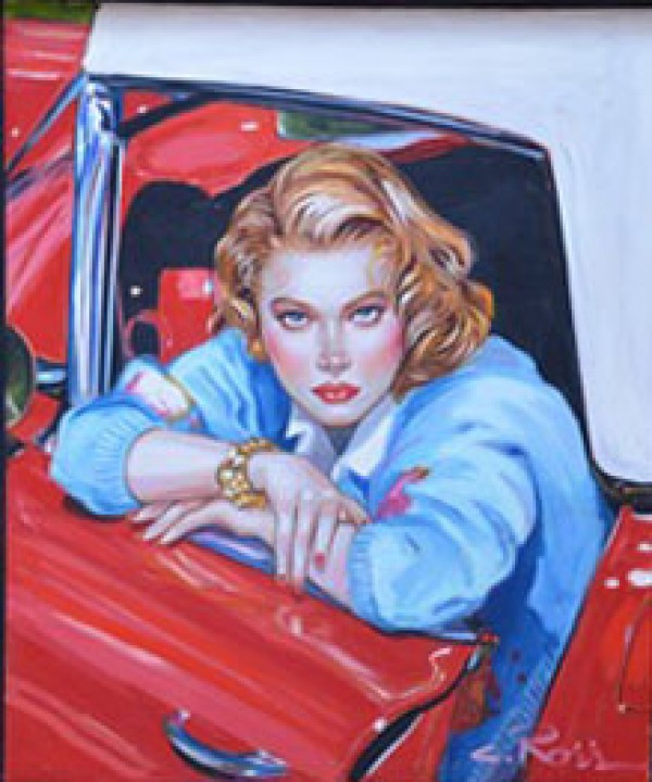 """""""Something to Talk About"""" Original Oil on Canvas by Colleen Ross"""
