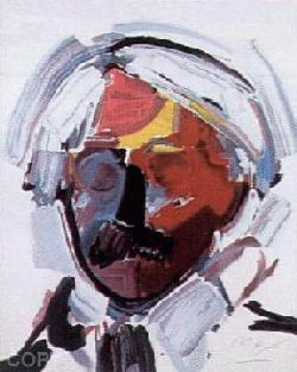 """""""Andy With Mustache"""" Serigraph on Paper by Peter Max"""