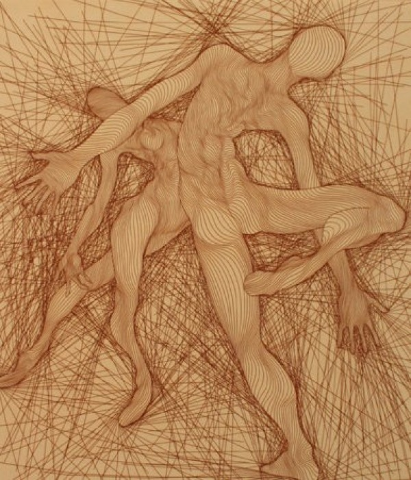 Guillaume Azoulay Passo di Due Etching
