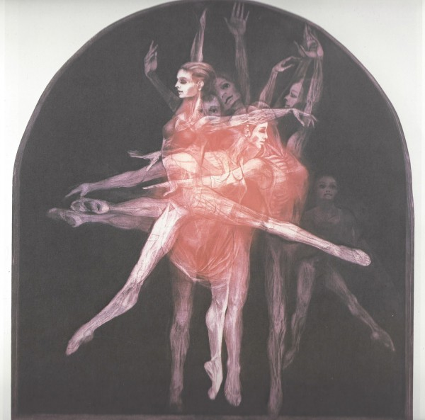 """""""Grand Saute"""" Mezzotint from the Large Dance Suite by G H. Rothe"""