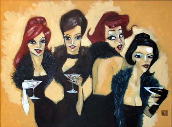 """Drinking Boa's"" Enhanced Giclee/Canvas by Todd White"