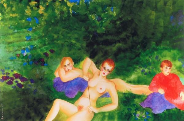 """""""My Best Friend's Girl"""" Original Watercolor by Joanna Zjawinska"""