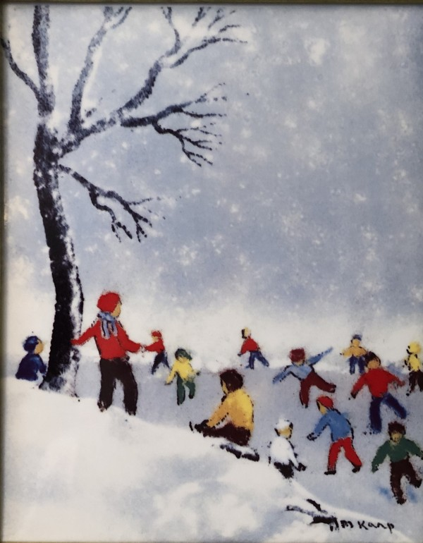 """""""Winter"""" From the """"Four Seasons"""" Porcelain prints by Max Karp"""
