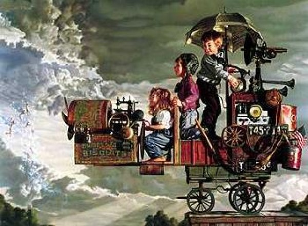 """""""Invitation to Flight"""" lithograph on canvas by Bob Byerley"""