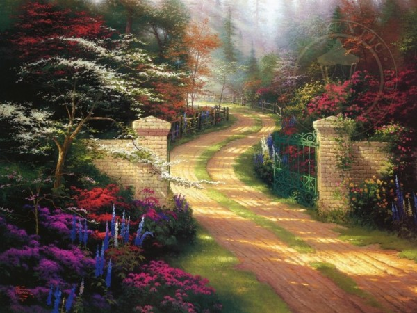 Spring Gate Limited Edition Print by Thomas Kincade