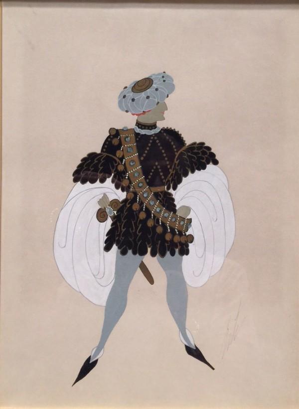 """""""Monsieur de Busseroles"""" 1936 Original Goauche by Erte"""